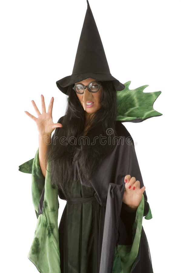 Ugly witch stock photography