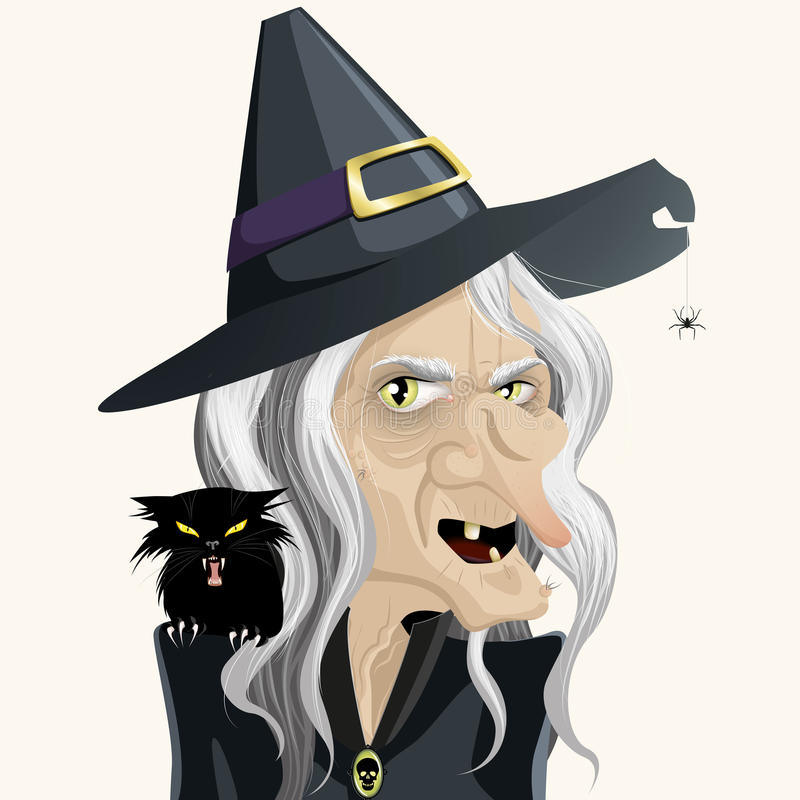 Ugly witch royalty free illustration