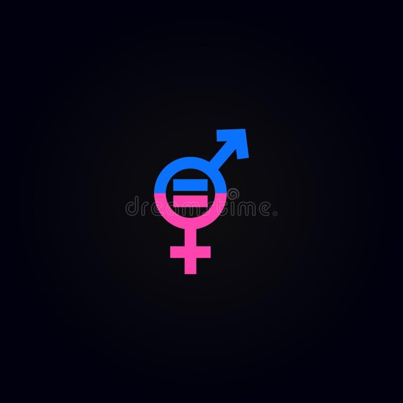 Uguaglianza del sesso dell'uomo e delle donne di genere illustrazione vettoriale