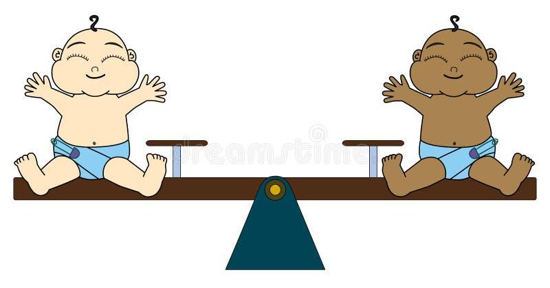 Uguaglianza totale illustrazione vettoriale
