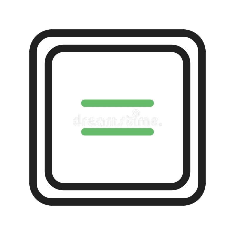 Uguale al simbolo illustrazione di stock
