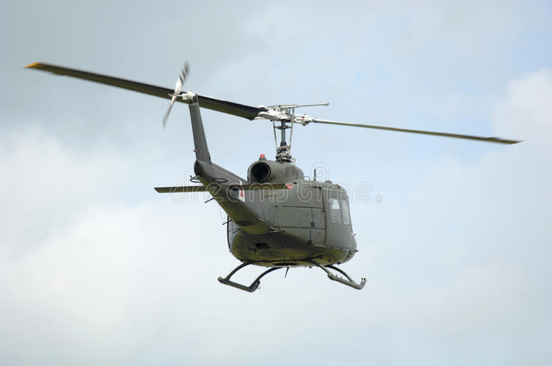 UH-1 Transport Helicopter. UH-1 military army transport helicopter royalty free stock image