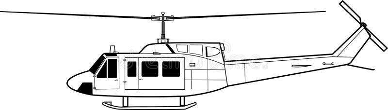 UH-1 illustration stock