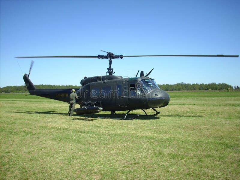 UH-1 på EAA Argentina 2013 royaltyfri bild