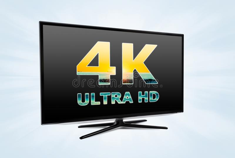 UHD digital television screen technology. Ultra high definition digital television screen technology royalty free illustration