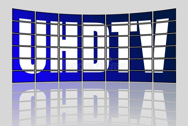 UHDTV-Concept stock illustratie