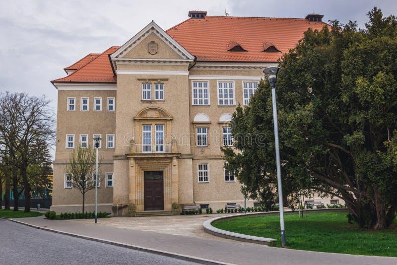 Uherske Hradiste in Czech Republic. Elementary School in Uherske Hradiste, small city in Czech Republic stock images