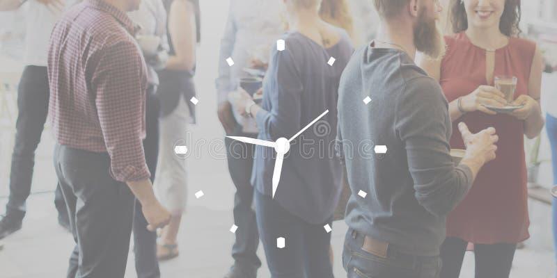 Uhr-Dauer-Zeit-Mußestunde-Konzept lizenzfreie stockbilder