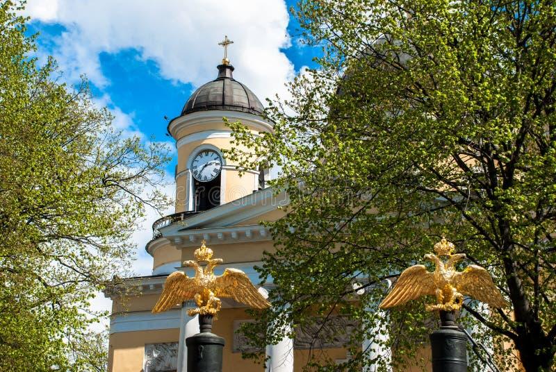 Uhr der Kathedrale lizenzfreie stockfotografie