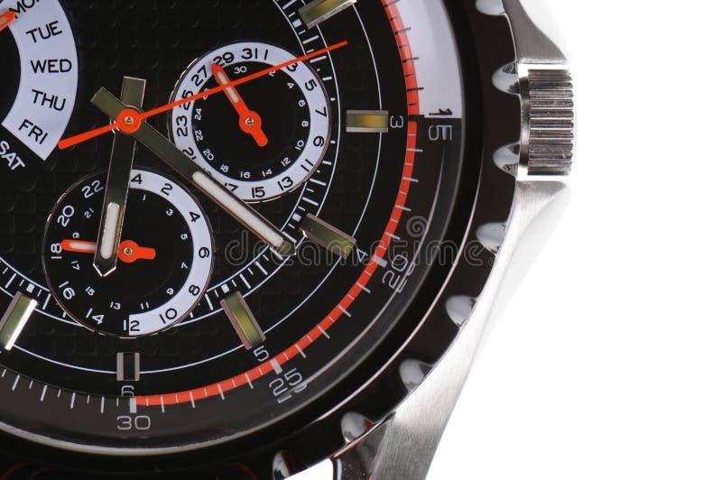 Uhr in der Nahaufnahme lizenzfreies stockbild
