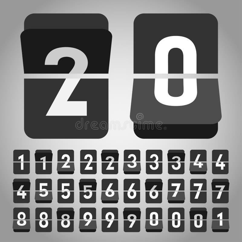 Uhr des Vektorleichten schlages stock abbildung
