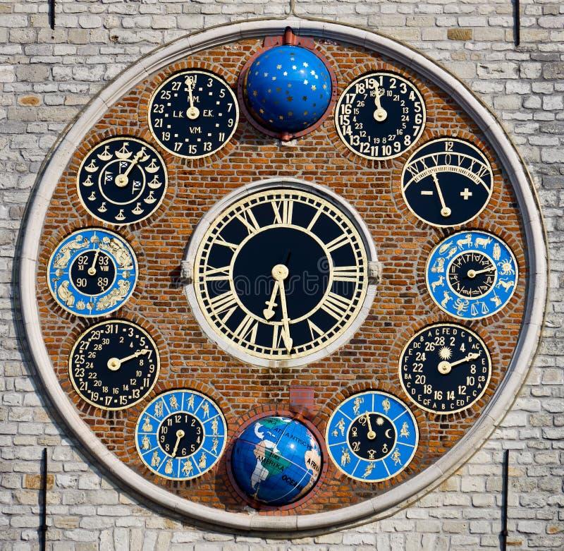 Uhr des Zimmer-Turms, Lier, Belgien lizenzfreies stockfoto
