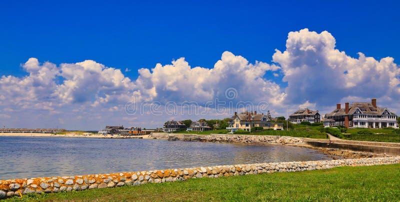 Uhr-Hügel-westliche Rhode Island-Küstenlinie lizenzfreie stockbilder