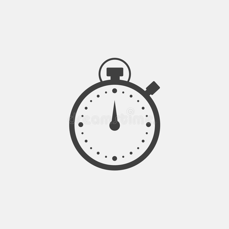 Uhr-Ikonen-Vektor lizenzfreie abbildung
