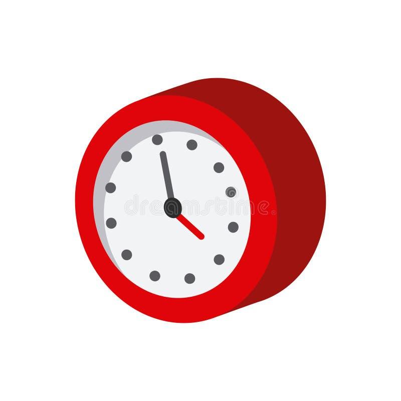 Uhr-isometrische Ikone vektor abbildung