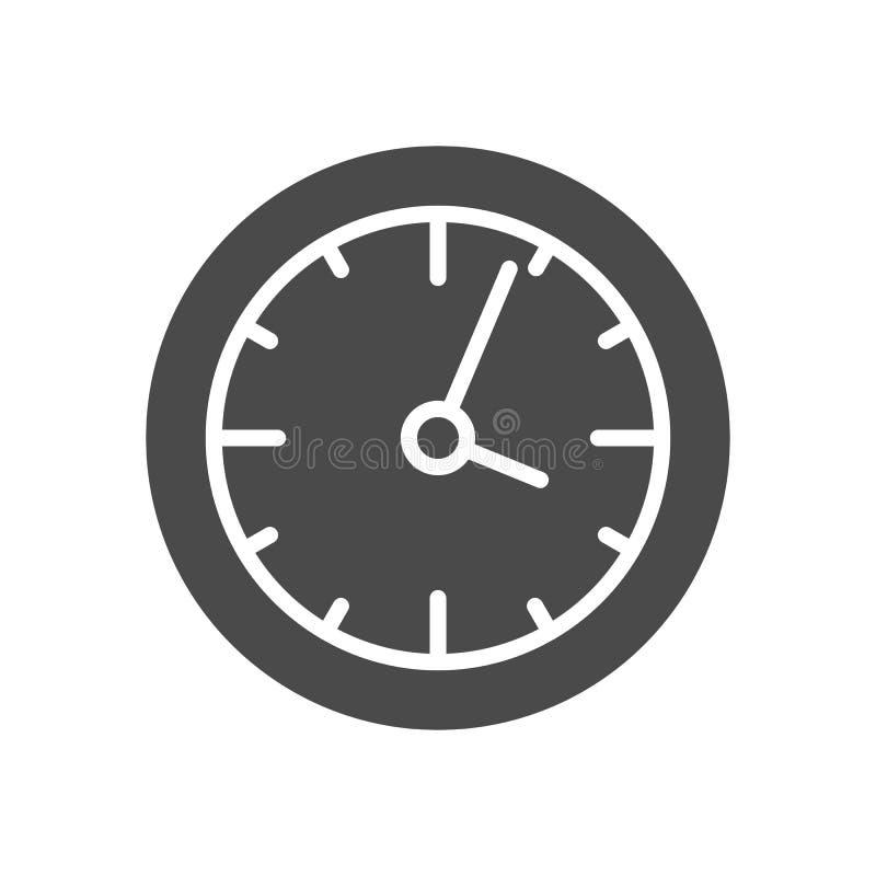 Uhr-Körper-Ikone lizenzfreie abbildung