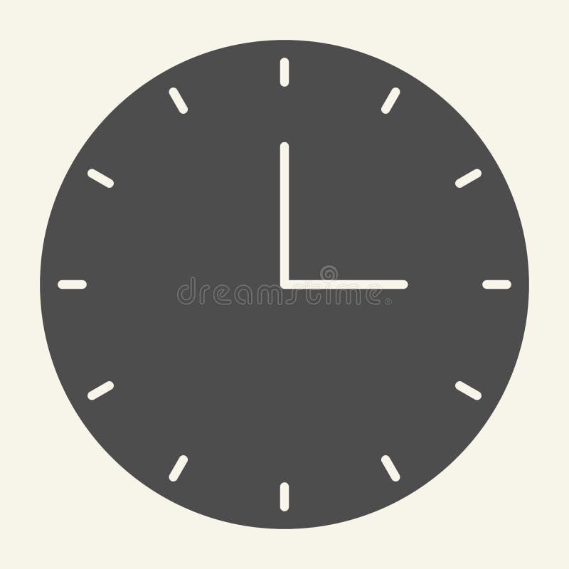 Uhr-Körper-Ikone Zeitvektorillustration lokalisiert auf Weiß Uhr Glyph-Artdesign, bestimmt für Netz und APP ENV 10 lizenzfreie abbildung