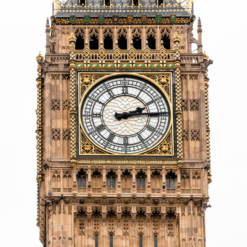 Uhr Londons Big Ben stockfotos