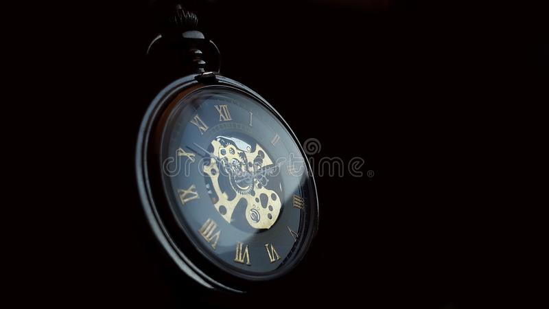 Uhr, Medaillon, Guss, Marke