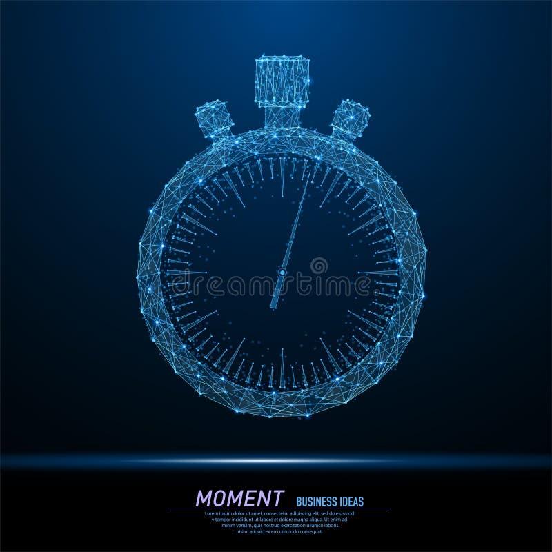 Uhr oder Stoppuhr vektor abbildung