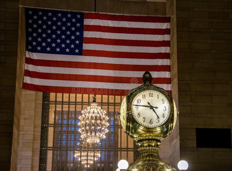 Uhr von Grand Central -Station - New York, USA stockbilder