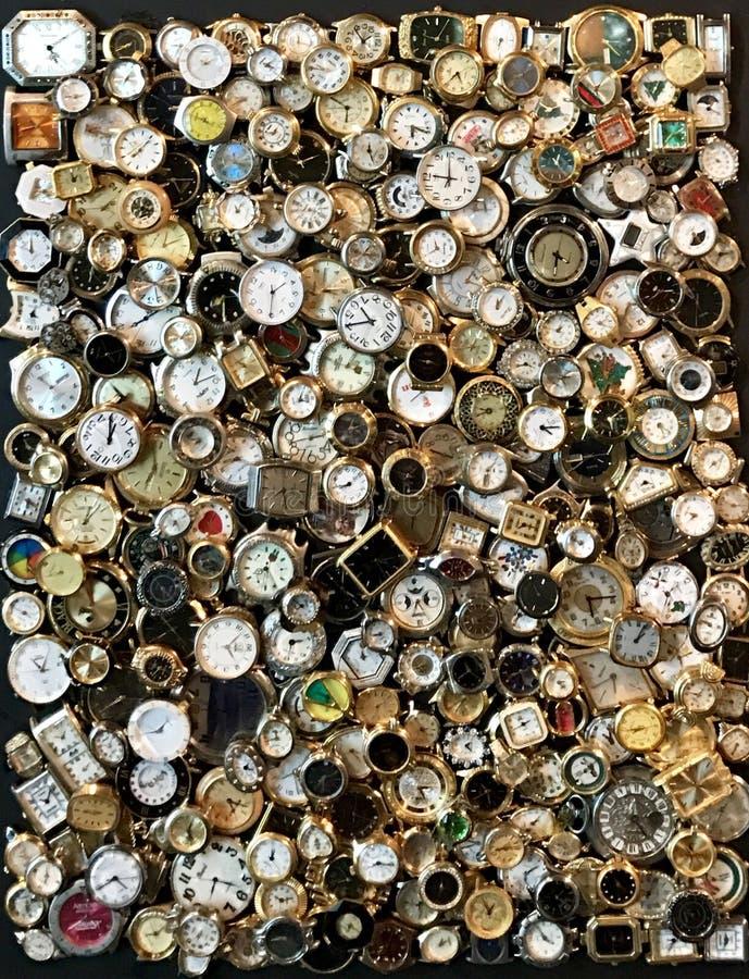 Uhr wählt Sammlung stockfotos