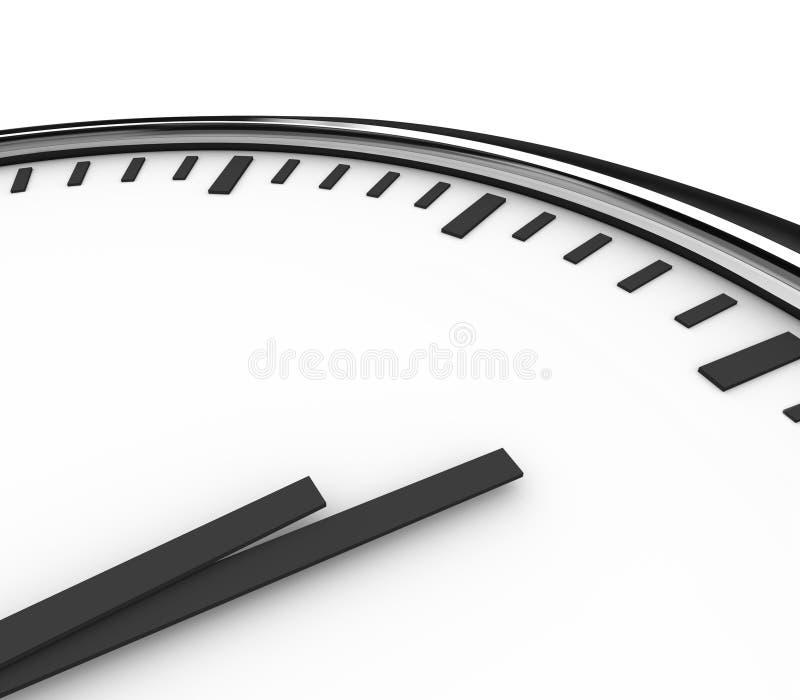 Uhr-Zeit-Stundenzeiger leeres Copyspace für Ihre Mitteilung lizenzfreie abbildung