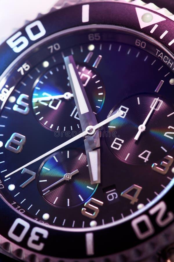 Uhrchronographnahaufnahme stockfotografie