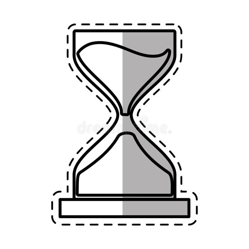 Uhrglassandgeschäfts-Geldschatten lizenzfreie abbildung