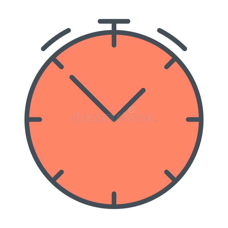 Uhrlinie Ikone Lineares Symbol der Stoppuhr Vektor unterzeichnen herein Entwurfsart lizenzfreie abbildung