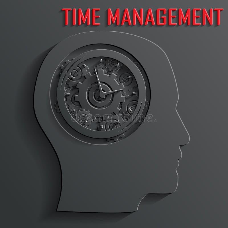 Uhrmechanismus im Hauptvektor stock abbildung