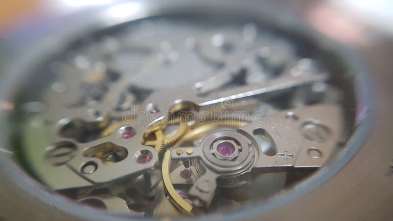 Uhrnahaufnahmemakro lizenzfreies stockfoto