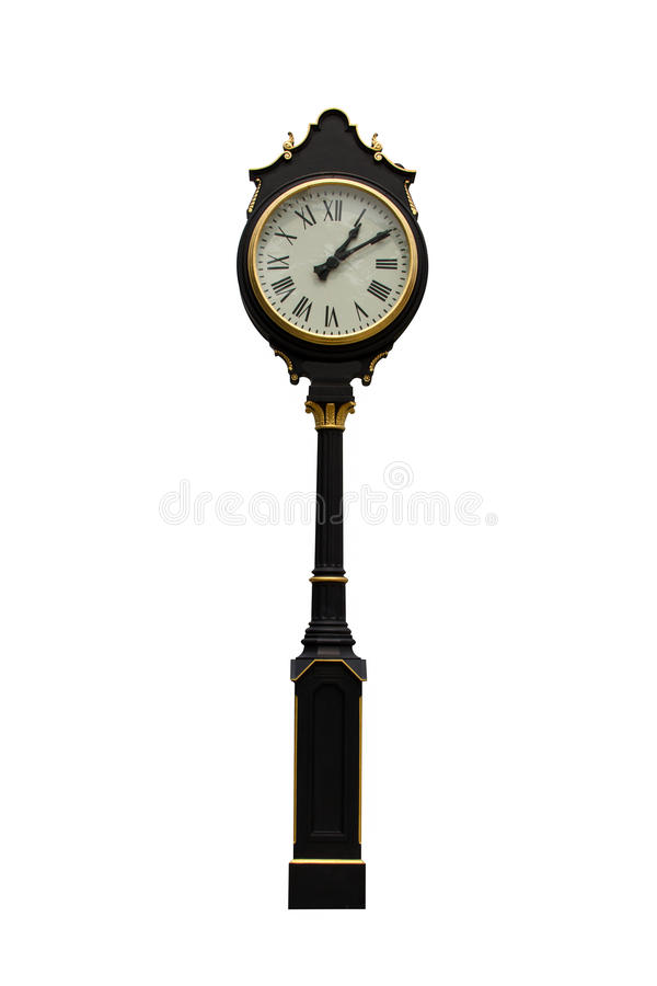 Uhrpfosten stockbilder