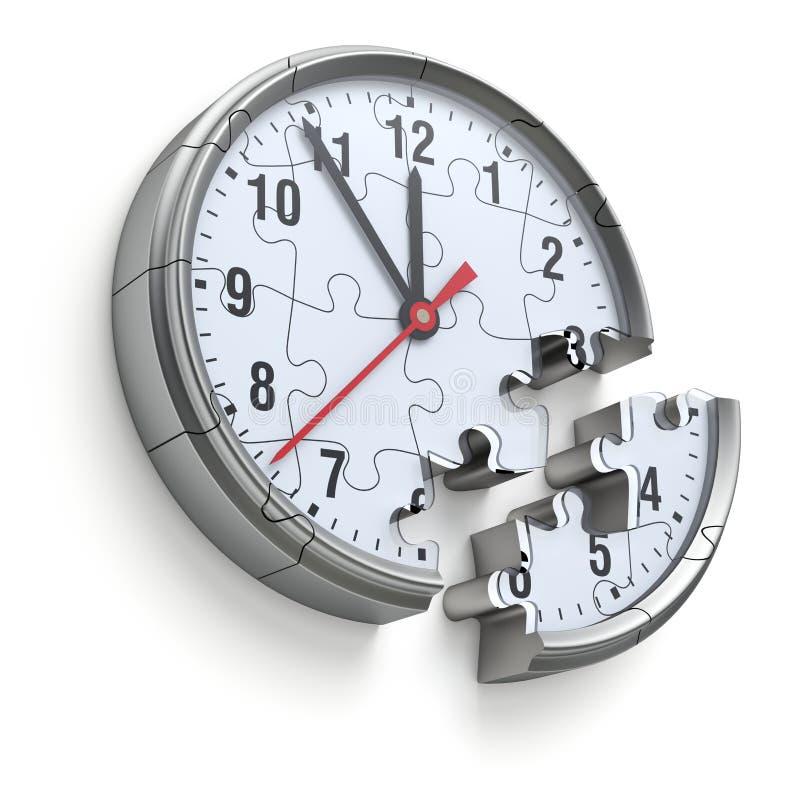 Uhrpuzzlespielkonzept vektor abbildung