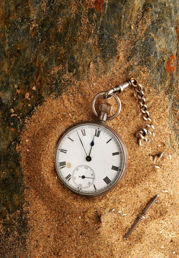 Uhrsand und -schiefer lizenzfreies stockfoto