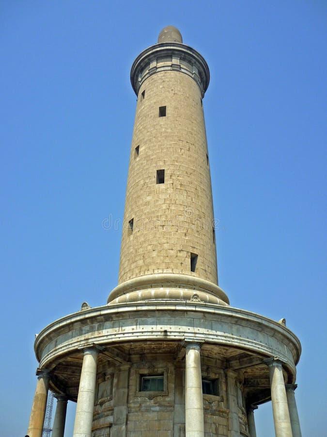 Uhrturm in Dalian stockfoto