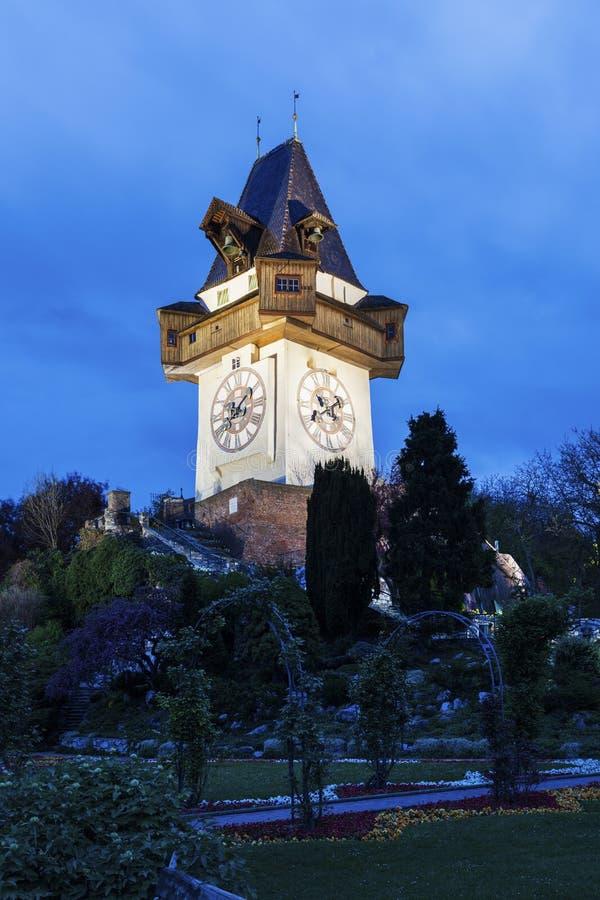 The Uhrturm in Graz royalty free stock image