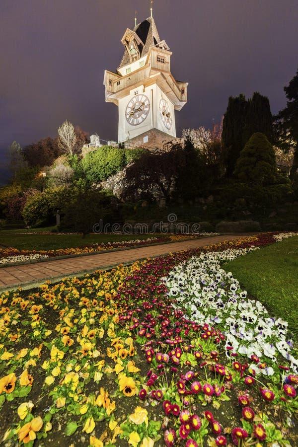 The Uhrturm in Graz stock images