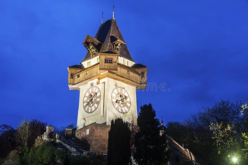 The Uhrturm in Graz stock photo
