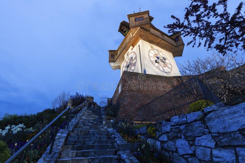 The Uhrturm in Graz stock photography