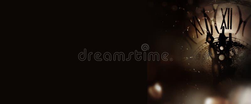 Uhrzeit im Mitternacht stockfotos