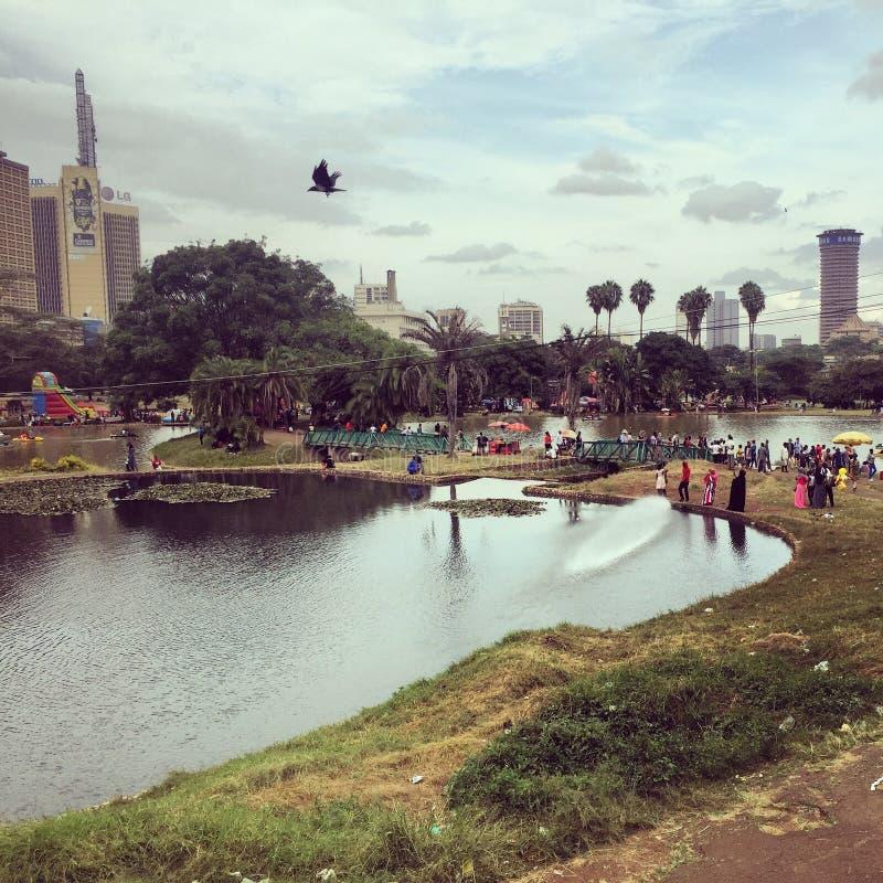 Uhuru Park в центральном Найроби стоковое фото rf