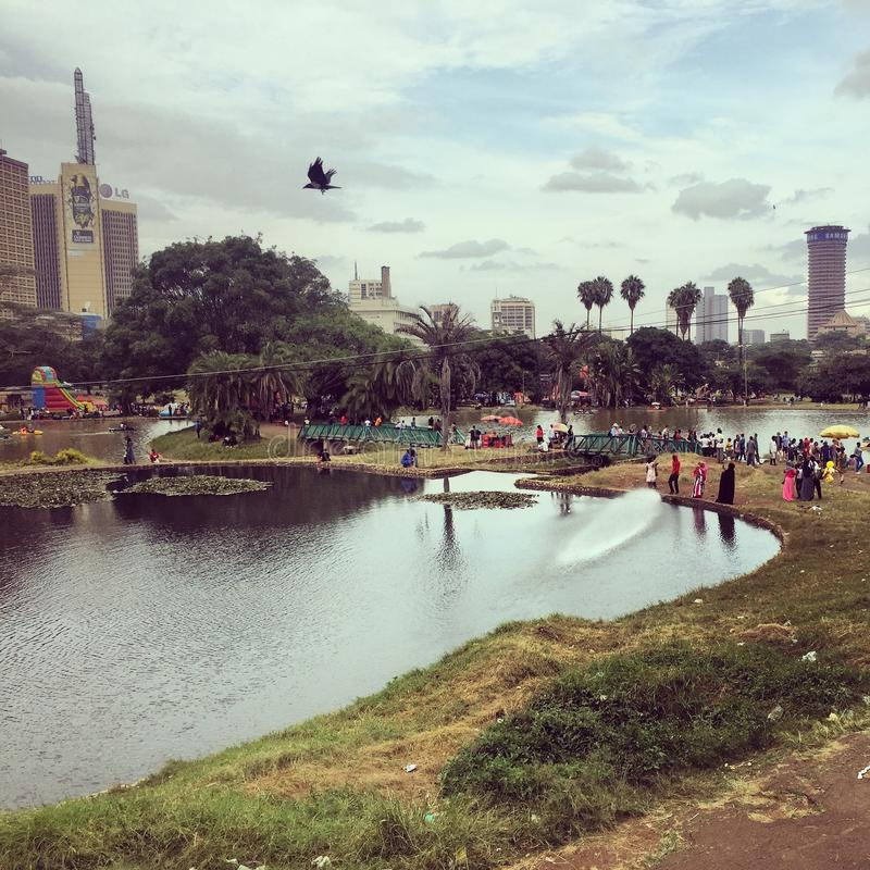 Uhuru Park a Nairobi centrale fotografia stock libera da diritti