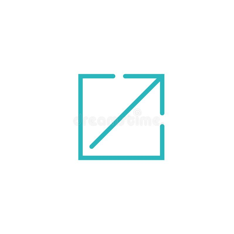 UI或UX网&流动应用的外部链接象 皇族释放例证