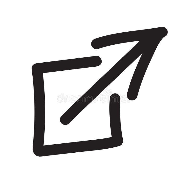 UI或UX网&流动应用的外部链接象 库存例证