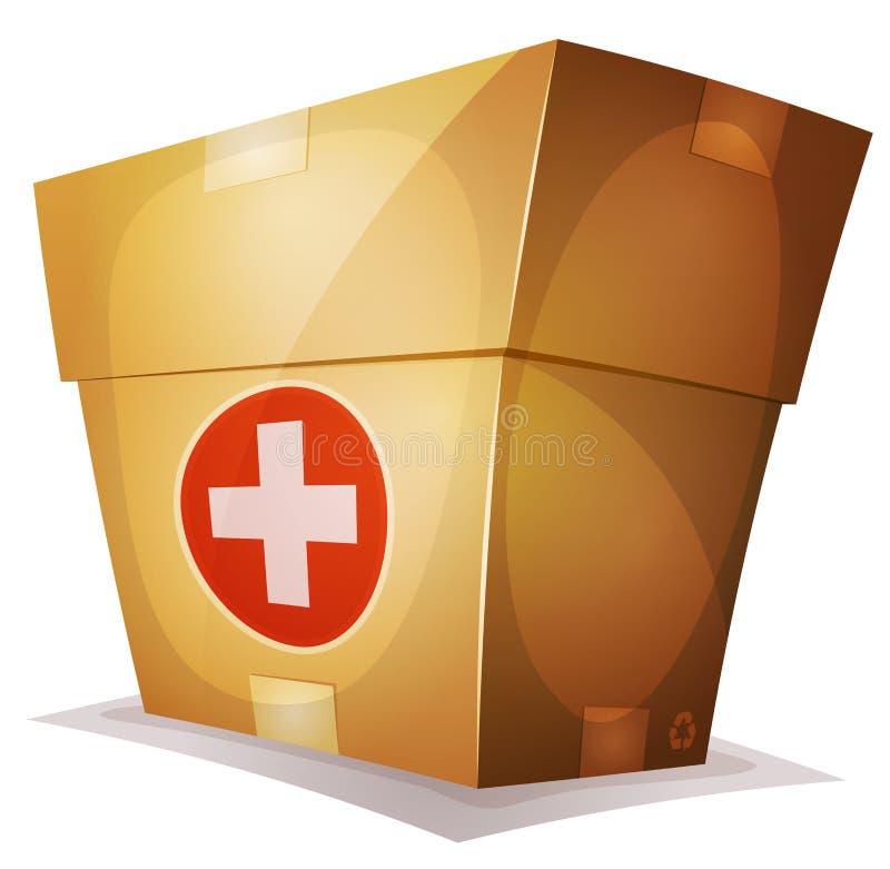 Ui比赛的滑稽的医学箱子 皇族释放例证