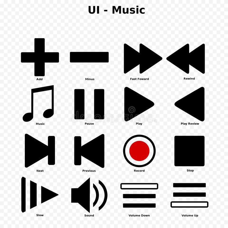 UI - Музыка стоковые изображения rf