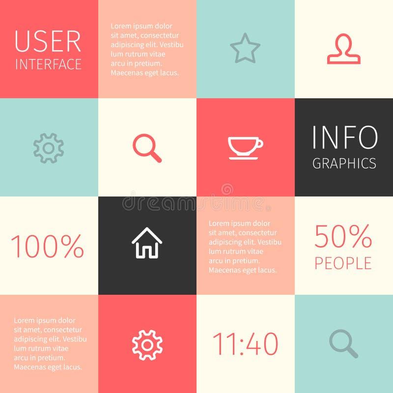 Ui для черни или веб-дизайна иллюстрация вектора