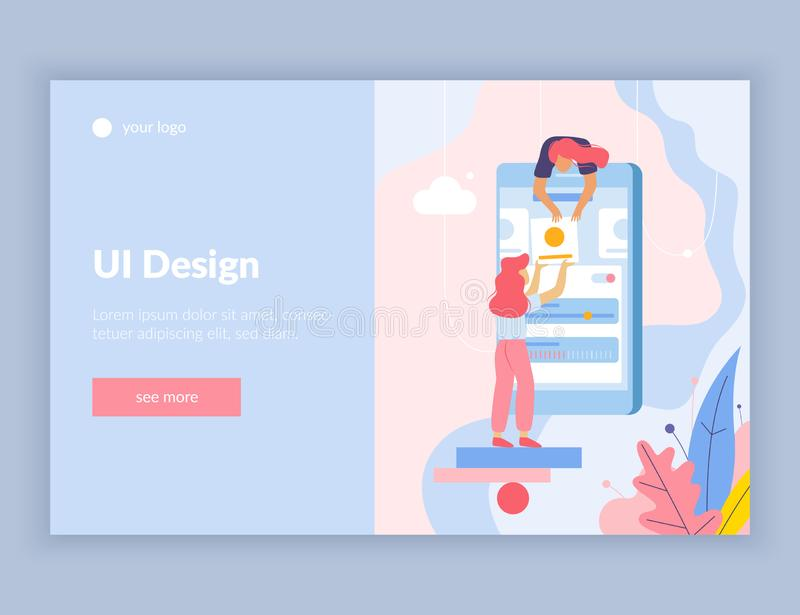UI Design Flat Page vector illustration