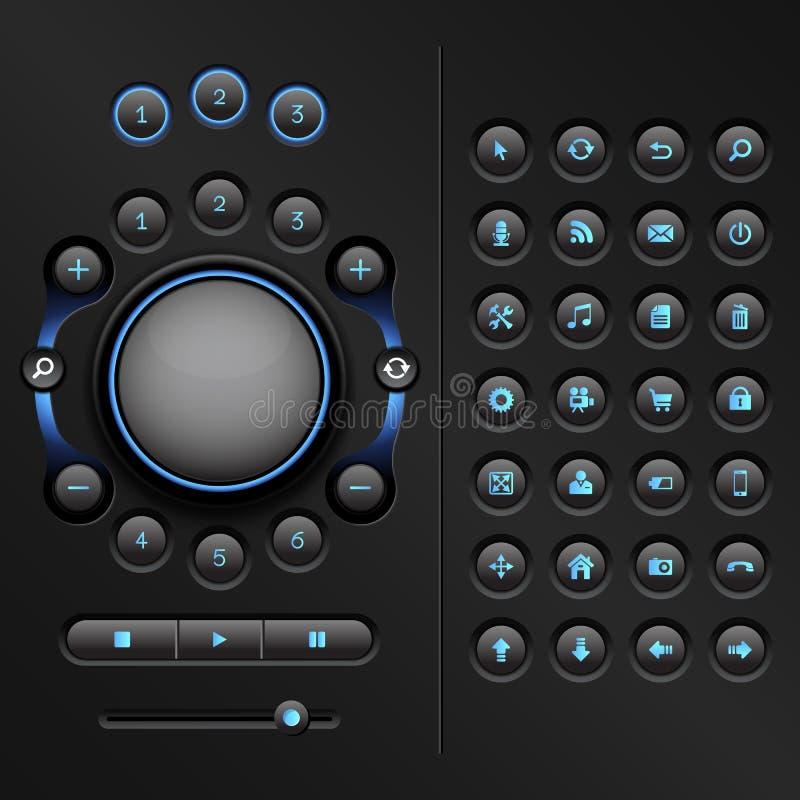 UI elementy ilustracji